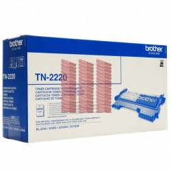 ORIGINAL Brother toner nero TN-2220 ~2600 PAGINE