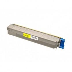 44643001 Toner compatibile Giallo Per OKI C801DN C801N C821DN C821N