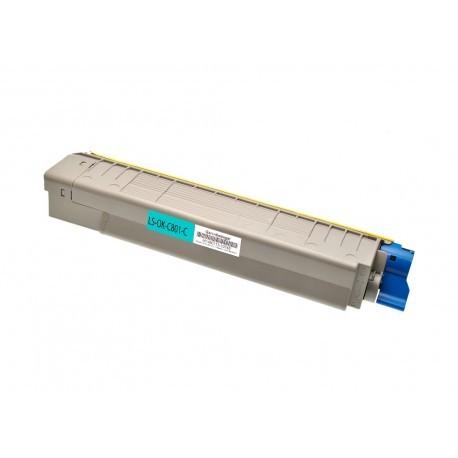 44643003 Toner compatibile Ciano Per OKI C801DN C801N C821DN C821N