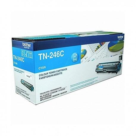 ORIGINAL Brother toner ciano TN-246C ~2200 PAGINE
