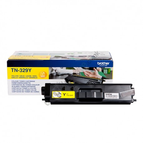 ORIGINAL Brother toner giallo TN-329Y ~6000 PAGINE