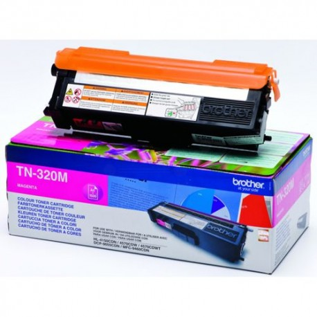 ORIGINAL Brother toner magenta TN-320M ~1500 PAGINE