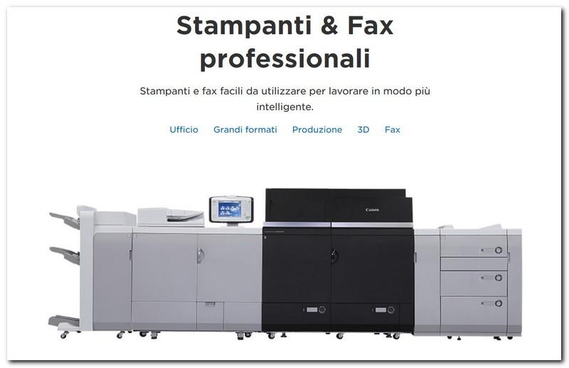 Stampanti e fax professionali